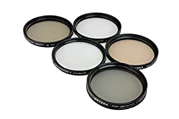 Opteka 58mm High Definition Professional 5 Piece Filter Kit includes UV, CPL, FL, ND4 and 10x Macro Lens