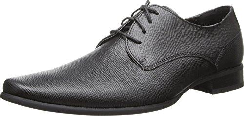 Calvin Klein Calvin Klein Men's Brodie Epi Leather Oxford,Black,10.5 M US price tips cheap