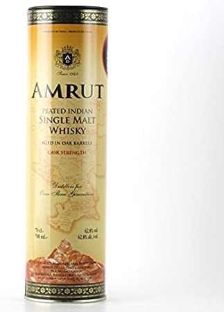 Amrut Amrut Peated Indien Single Malt Whisky Cask Strength 62,8% Vol. 0,7L In Tinbox - 700 ml