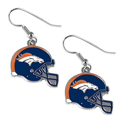 (Sports Team Denver Broncos J Hook Dangle Logo Earring Set )