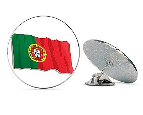 "NYC Jewelers Portugal Waving Flag Shaped (Lisbon Portuguese) Metal 0.75"" Lapel Hat Pin Tie Tack Pinback"
