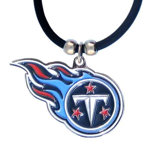 NFL Tennessee Titans Rubber Cord Logo Necklace