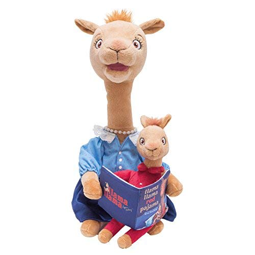 Cuddle Barn | Animated Mama Llama 14'' Talking Stuffed Animal Plush Toy | Head and Mouth Moves | Recites the book ''Llama Llama Red Pajama'' by Cuddle Barn
