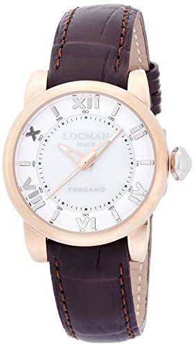 LOCMAN watch Toscano Quartz date 100M waterproof ladies 0595V14 0595V14-R0MWPSN Ladies