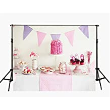 1st Birthday Backdrop for Photography 5x7 Waterproof Pink Photo Background Newborn Party Theme baby Studio Props
