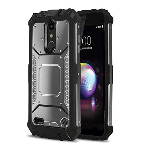 Phone Case for [LG XPRESSION Plus (AT&T)], [Alloy Series][Gun Metal] Aluminium [Metal Plate][Military Grade] Shockproof [Impact Resistant] Cover for LG Xpression Plus (AT&T Prepaid Phone)
