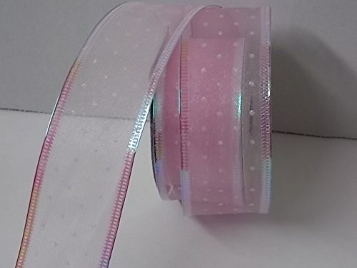 fabric-ribbon-with-wire-edge-for-gifts-for-baby-pink-with-sparkly-dots