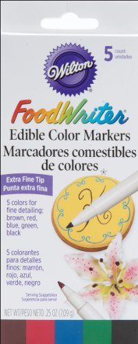 Wilton W609105 Food Writer, Extra-Fine Tip for Edible Color Markers, 0.25-Ounce