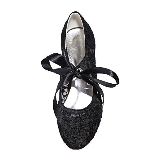 Disponibles Dentelle 9001 L Black Party amp; Couleurs 06 dentelle Chaussures yc De Mariage Night Femmes Pour More Fleurs BRaABqY