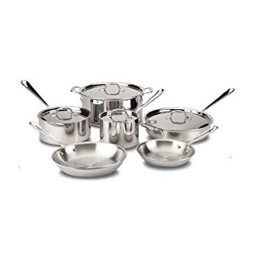 All-Clad 10-Piece Stainless Steel Tri-Ply Cookware Set