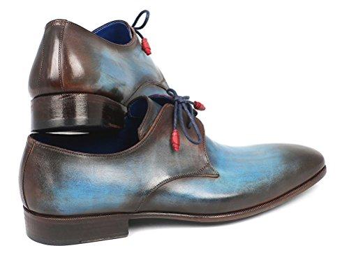 Paul Parkman, Uomini Lace Up Brogue Multicolore Blu / Marrone
