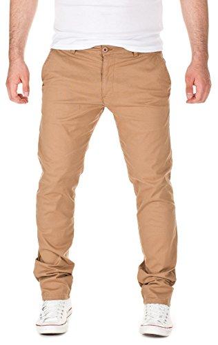 Yazubi Herren Chino Hose, Modell Dustin, by YZB Jeans , camel (3004), W32/L32