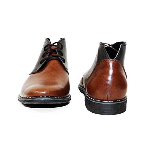 Uomo Modello Pelle Morbido Fifi in Pelle Marrone da Allacciare Italiano Chukka Boots Vacchetta Handmade xnwBqUHnC