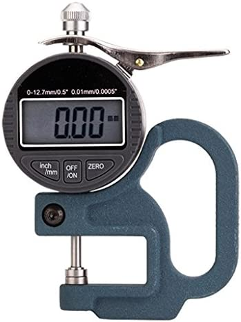 Digital Dial Test Gauge Micrometer Thickness Meter with LCD Display Inch Paper//Film//Fabric//Tape Thickness Gauge Micrometer Thickness Gauge Digital Thickness Gauge