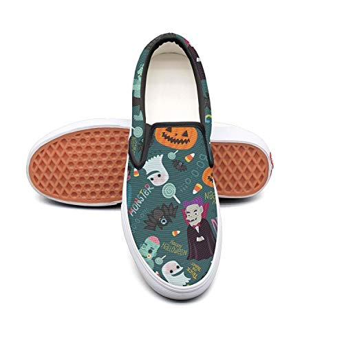 Sernfinjdr Women's Women's Sernfinjdr Happy Halloween Zombie Fashion Casual Canvas Slip on Shoes Cute Cycling Sneaker Shoes B07H5JTXQX Shoes 63f1fd