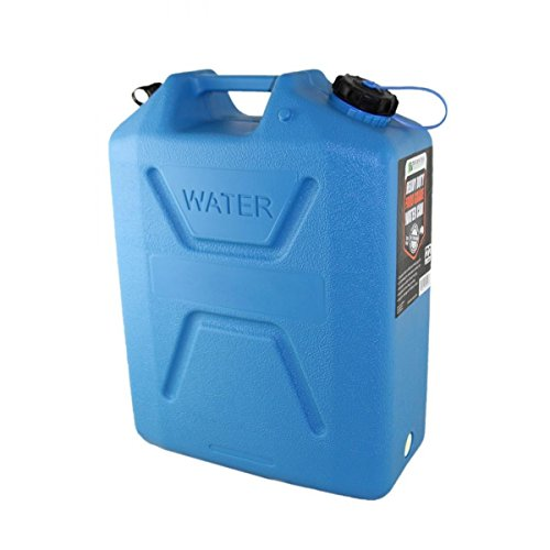 Wavian USA 3216 5 Gallon Dring Water Can with Spout UV Stabilized BPA Free Textured Military Grade Heavy Duty Anti Bacterial Resin Made in Australia (Blue)