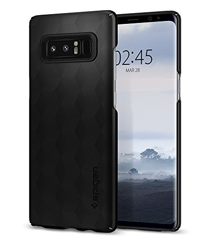 Spigen Thin Fit Galaxy Note 8 Case with SF Coated Non Slip Matte Surface for Excellent Grip and QNMP Compatible for Galaxy Note 8 (2017) - Matte Black