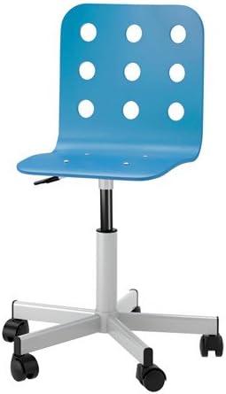 Ikea Jules Schreibtischstuhl für Kinder; in blausilberfarben; höhenverstellbar