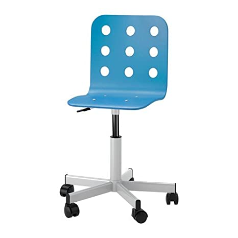 Ikea Jules Schreibtischstuhl Fur Kinder In Blau Silberfarben Hohenverstellbar