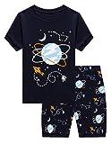 Family Feeling Big Boys Space Pajamas Short Sets 100% Cotton Kid Summer Pjs 16