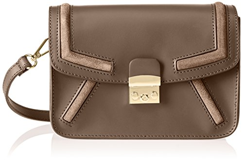 Chicca Borse 1603 - Bolso de hombro Mujer Beige (Taupe Taupe)
