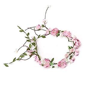 Headdress Artificial Flower Wreath Vine Crown Tiara Necklace Belt Party Bride Wedding Decoration Garland Gifts 14