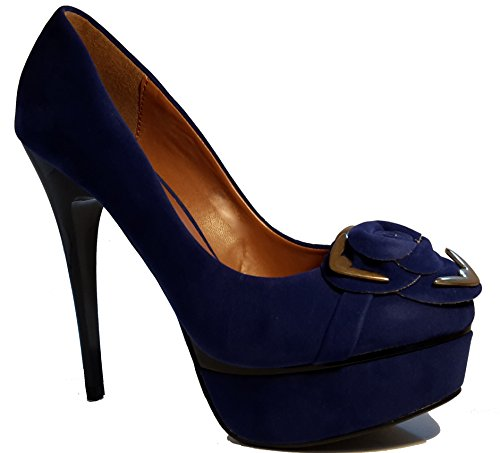 3-W-Hohenlimburg Stiletto Pumps High Heels Trachtenschuhe. mit Eleganter Verzierung. Rot, Blau, Grün, Weiß oder Schwarz, Damenschuhe, Schuh für Damen. ein Echter Hingucker-Schuh. PHH117. Blau