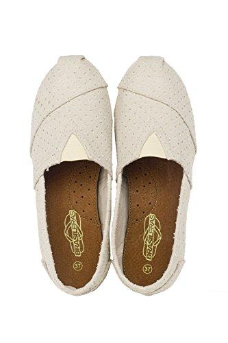 Brasileras Tejano - Alpargatas unisex, color beige, talla 40