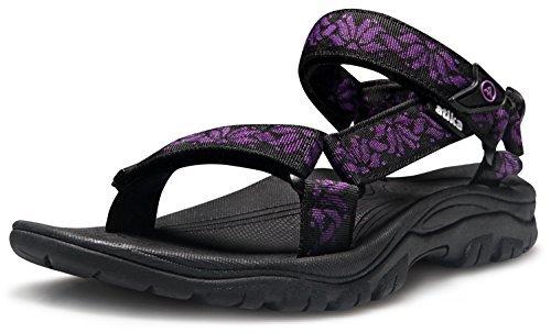 AT-W110-KVL_250 Women 8B(M) Atika Women's Maya Trail Outdoor Water Shoes Sport Sandals - Womens Arch Womens Swimming