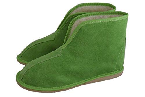 Natleat Slippers Womens Mens Unisex Natural Leather Sheepskin Slipper Boots, Damen Stiefel & Stiefeletten braun braun, rot - Red / suede - Größe: 40
