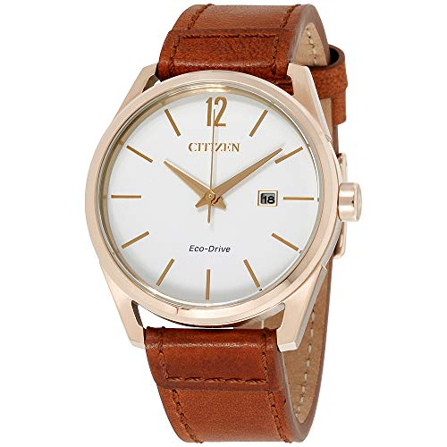 Diamonds White Dial - Citizen CTO White Dial Leather Strap Men's Watch BM7413-02A