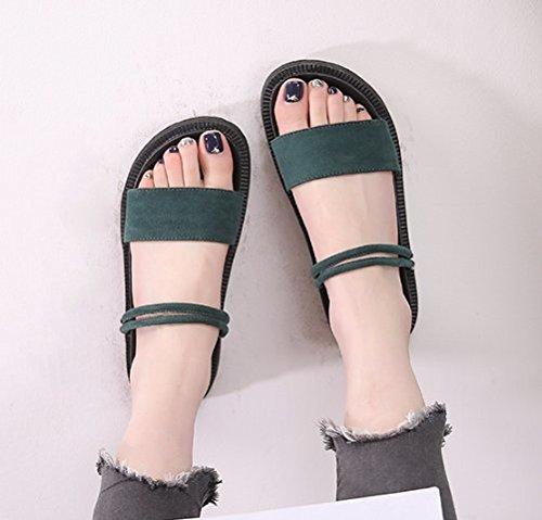 di e calzature Alla 4 Moda scuro cm verde Donna Da Sandali elegante spessore scarpe 35 AJUNR spagna versatile Il 43 pan di wqAz6Fa