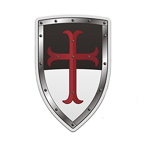 Knights Templar White Black Shield 3