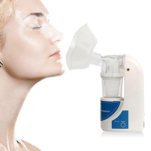 Azisen Portable Ultrasonic Mesh Inhaler Personal Handheld Professional Cool Mist Inhaler Atomizer Vaporizer for Inhalation Therapy - US Plug by Azisen