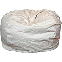 Ahh! Products Cotton Washable Bean Bag, Natural/Cream, Large