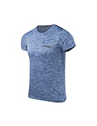 Cardigo Mens Summer Top Casual O-Neck T-Shirt Fitness Sport Fast-Dry Breathable Blouse
