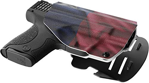 We The People - OWB Holster Compatible with Ruger Security-9 Gun - Outside  Waistband Concealed Carry Kydex Holster (Right Hand, Texas Flag)
