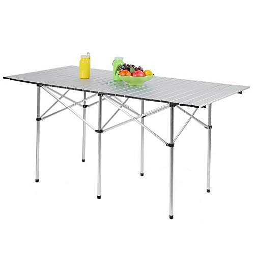 Best Kaputar Aluminum Roll Up Table Folding Camping
