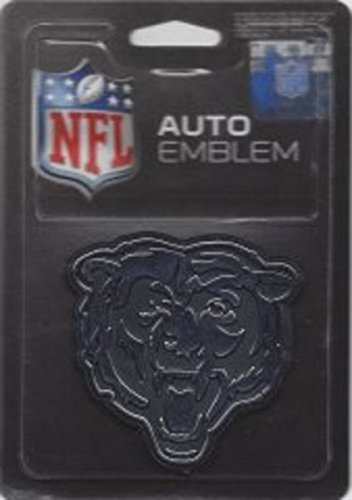 Rico Industries NFL Chicago Bears Chrome Finished Auto Emblem 3D Sticker ()
