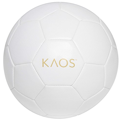 KAOS Phantom, Training and Recreation Soccer Ball, White, Size 5
