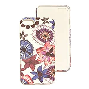 iPhone 7 Luminous glow in the dark Painted flowers rubered grooved cover case