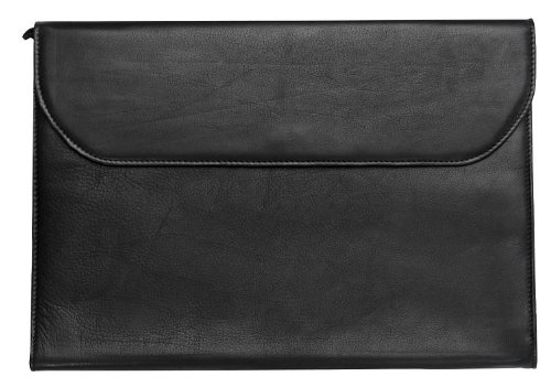 - Legal Size Leather Portfolio.when a briefcase is too much (Black)
