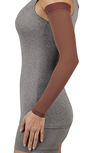 Juzo Soft 2001CG Armsleeve 20-30mmHg w/ Silicone Top Band Model: 2001MXCG - MAX, Size: V - X-Large, Length: R-Regular, Color: Chestnut 23 by Juzo