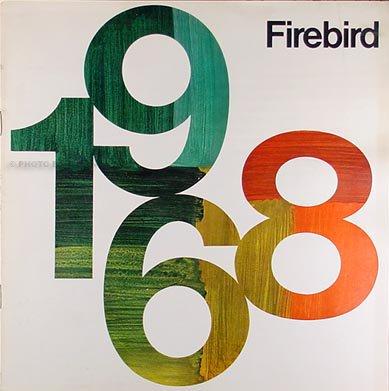 1968 Pontiac Firebird Sales Catalog Original