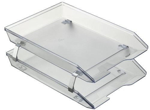 iers Double Letter Tray Front Load Design (Crystal Color) ()