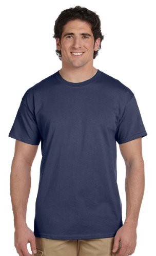 Fruit of the Loom 100% Heavy Cotton T-Shirt, DENIM NEW, L ( Pack2 ) - New Denim T-shirt