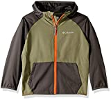 Columbia Boys Hidden Canyon Softshell Jacket, Cypress, Grill Heather, X-Large