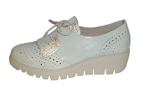 Zapato Wonders 3367 Plata/Piedra Cordones