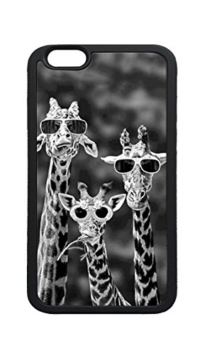 iPhone 6s Plus Case, Cool Giraffes With Sunglasses DIY Custom Photo Printed TPU Bumper Sturdy Shell Protective Case for iPhone 6 6s - Printed Custom Sunglasses