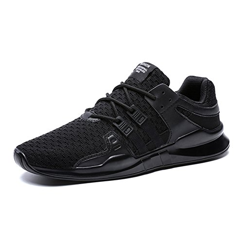 XIDISO Men's Casual Shoes Juniors Teens Black Running Fashion Sneakers - Juniors Casual Shoes